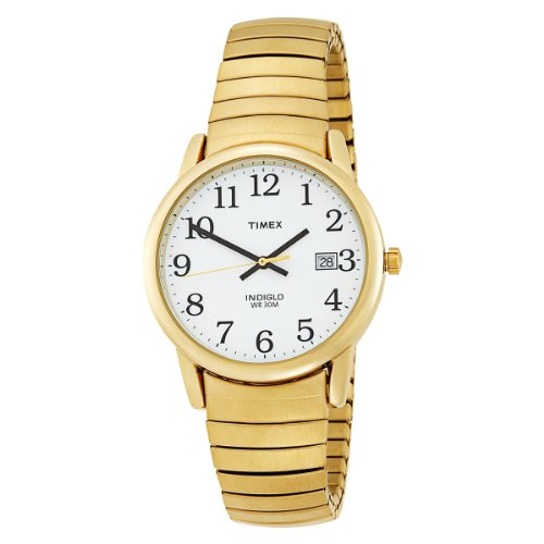 Timex Men's T2H301 Easy Reader Gold-Tone Expansion Band Watch, Watch Central