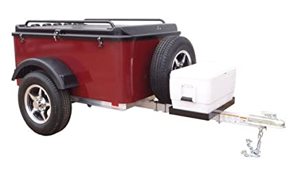 Small Cargo Trailers >> Hybrid Trailer Co Vacationer With Spare Tire And Cooler Tray Enclosed Cargo Trailer 990 Lbs Gross 30 Cu Ft Black Cherry