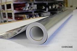 Silver Mirror chrome vinyl wrap 1ft x 60\