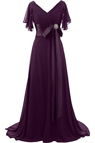 sera breve fiocco preferiti donna con lunga pietre abito Uva ivyd scollo Fest a giromanica ressing da Prom V xaqC8w1