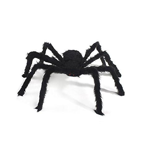 Unicoco Big Ragno, Giocattolo Ragno farcito, Ragno Nero per la Decorazione di Halloween