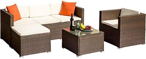 Amazon.com: ALI VIRGO Rattan Patio Furniture Wicker Sofa All ...
