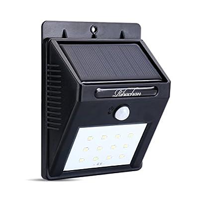 Solar Powered Motion Sensor Light 12 LEDs Wall Light for Yard Garden Deck Driveway Outside
