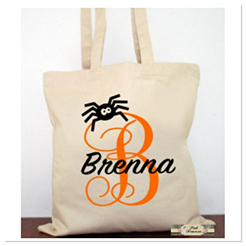 Personalized Trick Or Treat Bag, Personalized Halloween Pumpkin Bag, Halloween Favors. Halloween Costume Canvas Tote Child Gift