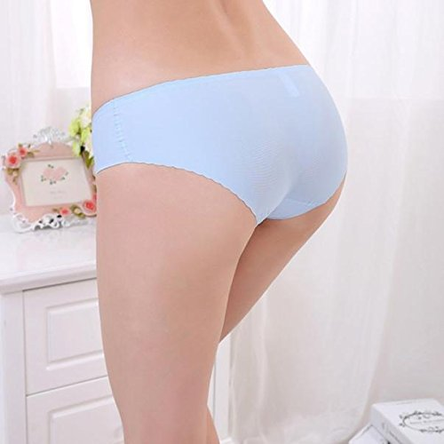 Novelty Women Lovely Panties,Women Invisible Underwear Spandex Seamless Crotch SB (Sky Blue12,Free Size)