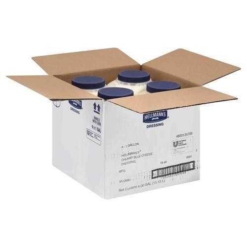 Hellmans Chunky Bleu Cheese Dressing 1 Gallon -- 4 Case by Hellmann's