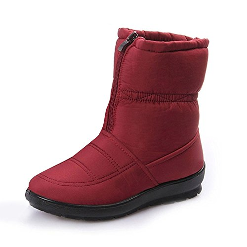 Outdoor Boots Ankle Men's Women's Soft Gaatpot Fur Winter Waterproof Rot Short Boots Boots Snow Warm with Non Slip pqREfFxf0w