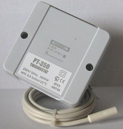 Fl/äche:10 qm Elektro Freifl/ächenheizung mit Thermostat und Frostschutzregler nie wieder Schnee schaufeln verhindern Sie Eisbildung im Au/ßenbereich