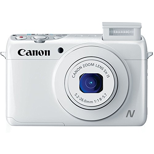 Canon PowerShot N100 HS 12.1MP Digital Camera – Wi-Fi Enabled (White)
