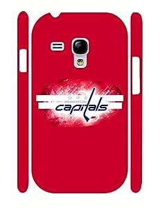 Samsung Galaxy S3 Mini Case Washington Capitals NHL Team Logo Collection 3D Print Cellphone Cover, Superior Drop Proof Case Cover for Samsung Galaxy S3 Mini I8200