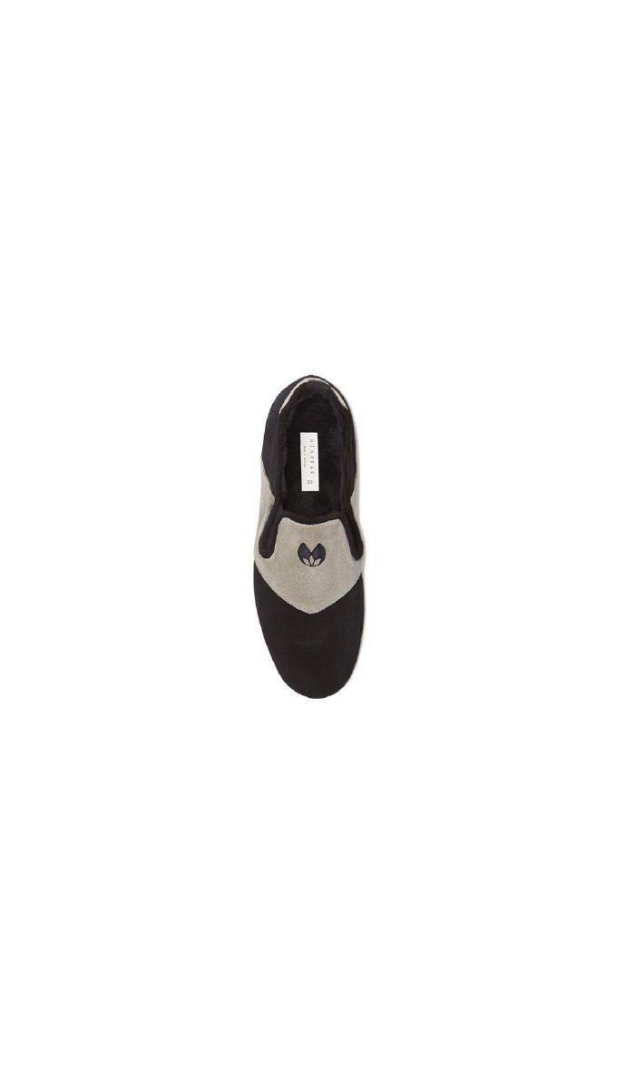 Nénufar Indoor Footwear Encre - Unisex - 5 - Black by Nénufar (Image #4)
