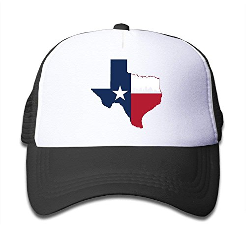 NVJUI JUFOPL Adjustable Caps Children Texas Flag Austin City Skyline Trucker Mesh Hats Black