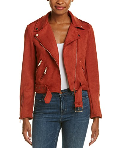 Women's Suede Moto with Gold Hardware