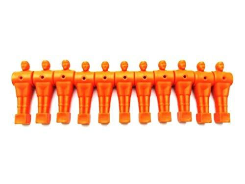 11 Bonecos Jogadores Para Pebolim/Totó Várias Cores (Laranja)
