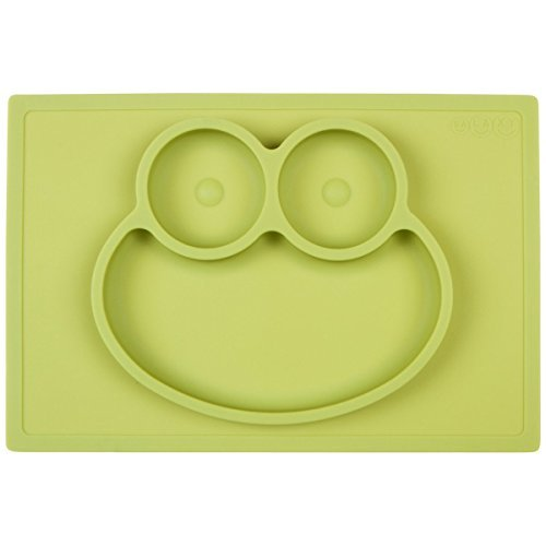 Galaxy 1 Piece Frog Silicone Placemat & Tray, Green