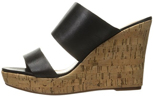 Schutz Women's Kai Wedge Sandal, Black, 8 M US