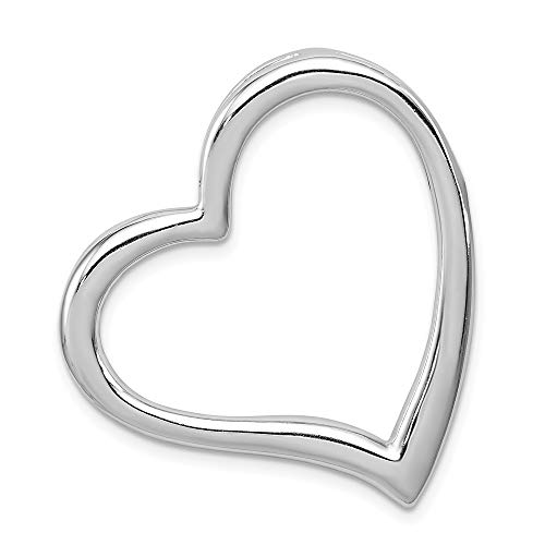 - Jewel Tie Sterling Silver Heart Slide - (1.18 in x 1.26 in)