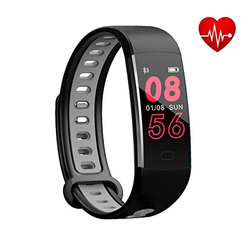 Big Omens Watch - Bloranda Fitness Tracker HR,Activity Tracker Watch Waterproof Smart Bracelet with Colorful Screen Heart Rate Monitor Calorie Counter Watch Pedometer Sleep Monitor for Kids Women Men