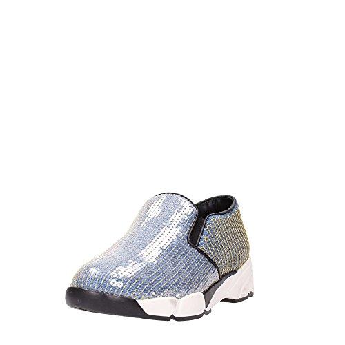 PINKO BURRASCOSO Sneakers Frau Blau Gold