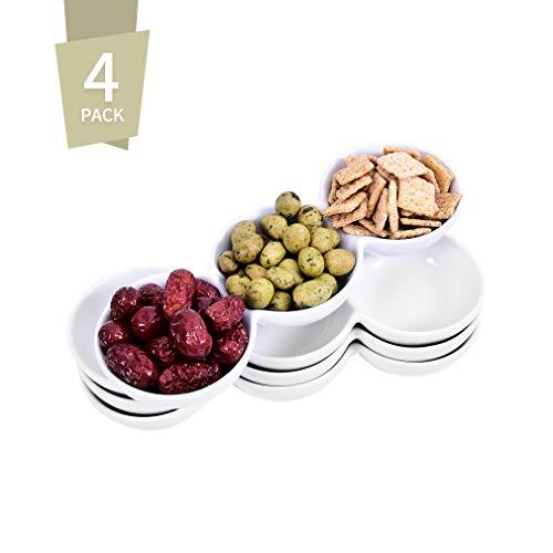 Singkasa 3 Compartment Porcelain Appetizer Serving Triplet product image