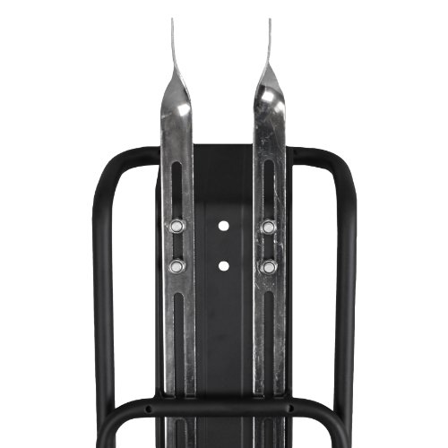 "BV Bicycle Commuter Rear Carrier Rack  For 26"" and 28"" Bicycles Frames, Carries Up To 55 lbs, Frame Mounted , Fender Board"