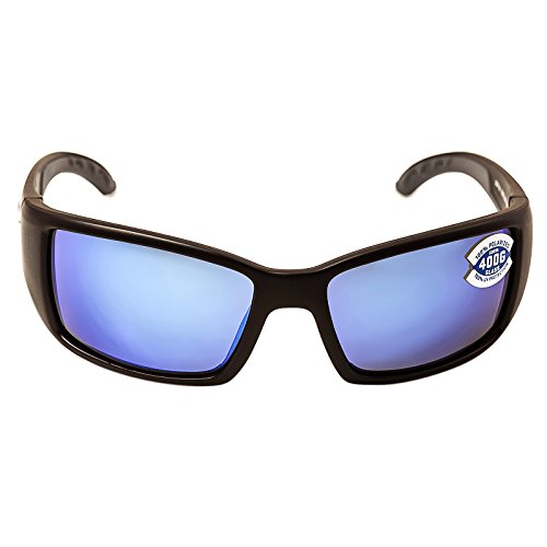 Costa Del Mar - Blackfin - Matte Black Frame-400 Blue Mirror Glass Polarized Lenses ()