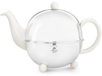Weiße Teekanne schöne weiße teekanne cosy 1 3 ltr mit isolierendem edelstahlmantel