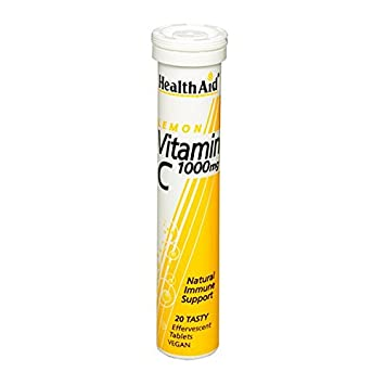 HealthAid Vitamina C 100 mg Efervescente Sabor Limón 20 Pastillas: Amazon.es: Electrónica