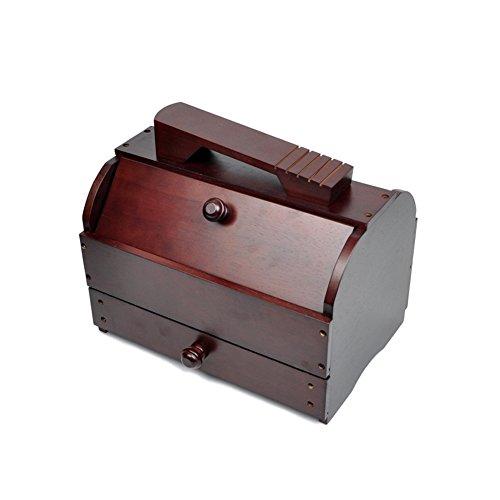 wood shoe shine kit - 5