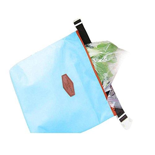 Rosennie Mode Tote Portable Isolierte Lunch Tasche Kühltasche Wasserdichte Aufbewahrungsbox Lunchbag Werkzeug Tasche Lebensmitteltransport Lunch-Boxen Resistent Matte Camping Picknick Bag Blau