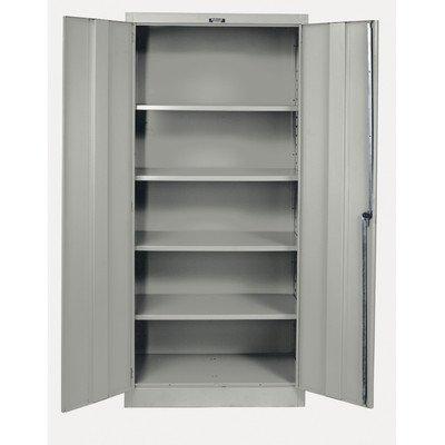 Hallowell Commercial Storage Cabinet – 36″Wx24″Dx72″H – Set Up – Black – Black