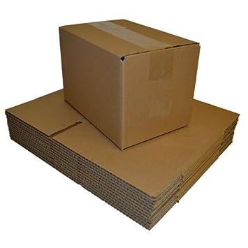 Cartón Cajas para envíos postales sola pared 380 mm x 260 mm x 300 mm, 10 unidades): Amazon.es: Oficina y papelería
