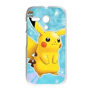 Motorola G Cell Phone Case White Cartoon Game Pikachu Custom Case Cover A11A558632