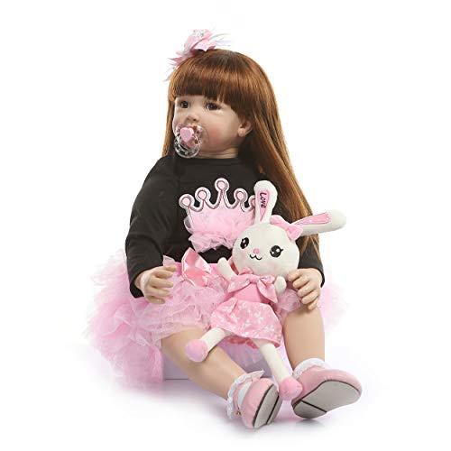 [해외]Binxing Toys 61cm Reborn Doll Toddler Clothes Princess Dress 인형 액세서리 61cm (옷만 인형 미포함) / Binxing Toys 24 inch Reborn Doll Toddler Clothes, Princess Dress, Doll Accessories for 24 inch(only Clothes no Doll Include) (6)