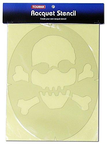 Tourna Fun Skull & Crossbones Racquet Stencil by Tourna