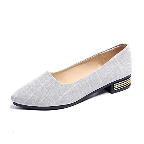 mouth Casual Ballerines Gris Pointu Mashiaoyi Bout Shallow Femme P4WXq8