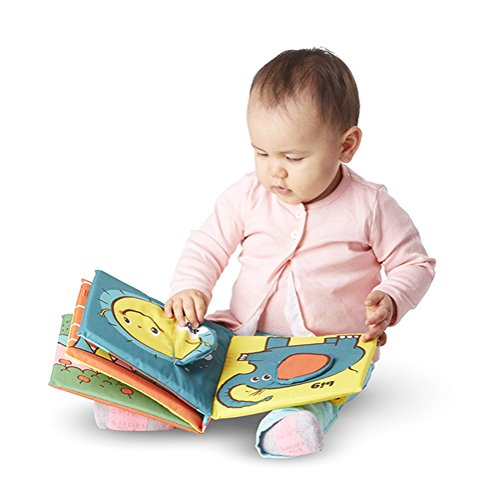 Quner Baby Book Cute Crinkly Animal Puzzle Cloth Book Baby I