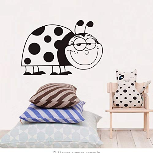 yongkuiniubi Hollow Vinyl Waterproof Large Smile Ladybug DIY Home Decoration Wall Stickers Children's Room Art Decal 44X30CM