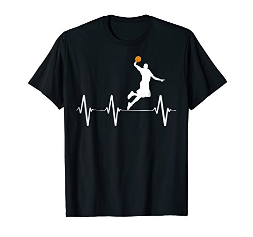 (Basketball Heartbeat Gift Shirts for Men and Boys)