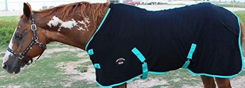 Challenger Horsewear 72'' Horse Exercise Sheet Polar Fleece Cooler Blanket Wicks Moisture Zebra 4350 by Challenger Horsewear