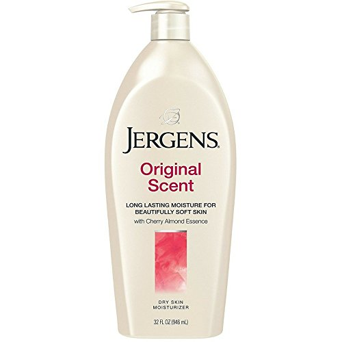Jergens Original Scent Dry Skin Moisturizer with Cherry Almond Essence, 32 Ounces Body Lotion Cherry Almond