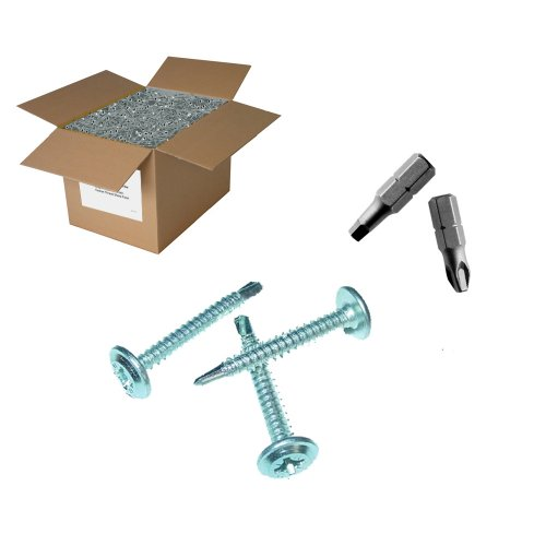 25lb 8x1/2'' Lath Screw - Drill Point by Factory Direct Screws