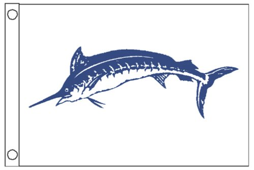 Taylor Made Products 2918, Fish Flag, Nylon, 12 inch x 18 inch, Marlin, Blue (Blue Fishing Marlin)