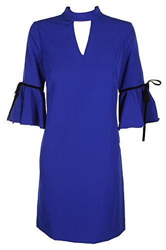 Julia Jordan Womens Special Occasion Bell Sleeves Party Dress Blue 8 ()