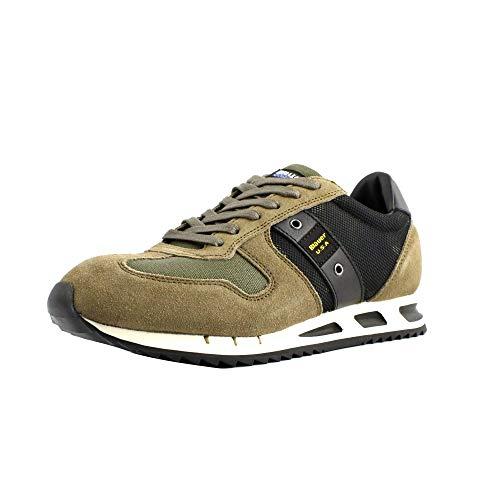 Blauer Tessuto Uomo Fondo camoscio Sneakers Verde Camouflage Militare e retinato Scarpe Gomma N Beige 42 Antiscivolo in rc4FqwnrY