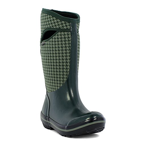 72030 Houndstooth Women's Plimsoll Green Wellington Bogs Dark Boot Multi wPX6EWZq