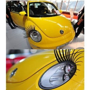dekcell 3d car eyelashes headlight lamp auto sticker pair car decoration accessory. Black Bedroom Furniture Sets. Home Design Ideas