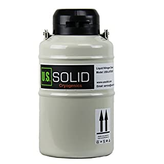 U.S.SOLID 3L Liquid Nitrogen Container LN2 Tank Cryogenic Dewar Semen Flask with Straps 6 Canisters Carry Bag