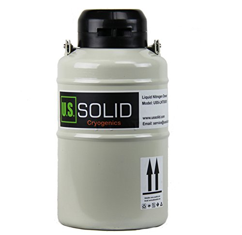 U.S.SOLID 3L Liquid Nitrogen Container LN2 Tank Cryogenic Dewar Semen Flask with Straps 6 Canisters Carry Bag by U.S. Solid