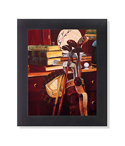 Golf Clubs Bags and Other Golfing Memorabilia #1 Wall Picture Framed Art Print